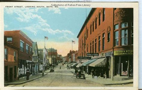 patten free library maine front street bath ca 1915 maine memory network
