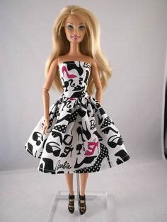 black doll no accessories clothes black print dress sold on etsy