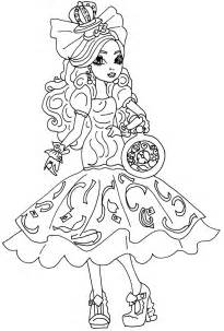apple white coloring page free printable ever after high