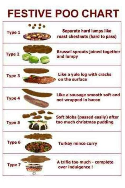 Bristol Stool Chart For by Bristol Stool Chart Nursey Humour Festive