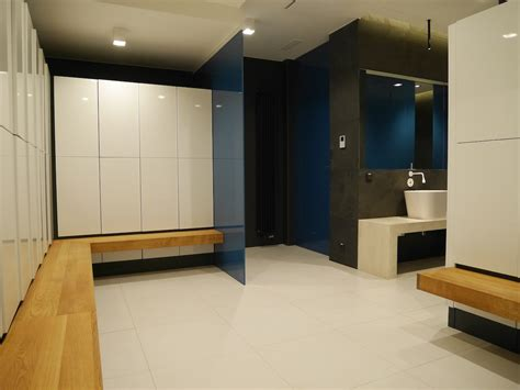 changing room design gym lockers locker room fitness club interior