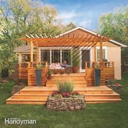 Pergola Deck Plans by Dream Deck Plans The Family Handyman