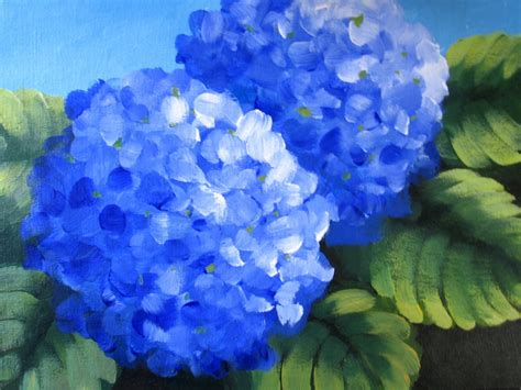 nel s everyday painting lavender hydrangea sold nel s everyday painting blue hydrangeas one and two sold