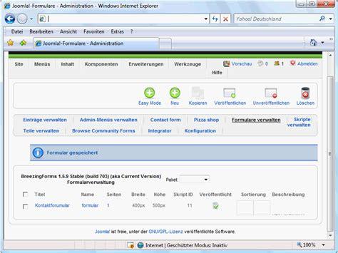 tutorial breezingforms joomla breezingforms teil 2 joomla cms tutorials de