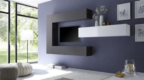 Meuble Tv Moderne Suspendu by Ensemble Meuble Tv Moderne Avec Colonnes De Rangement