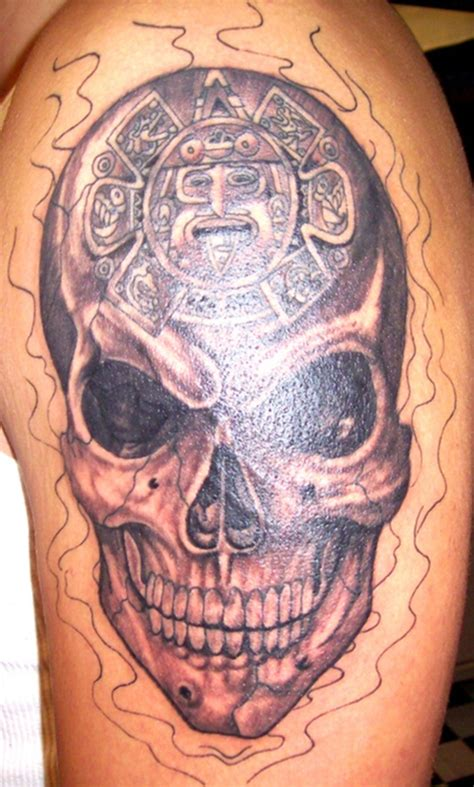 aztec skull tattoos designs aztec tattoos and designs page 92