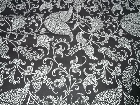 black floral upholstery fabric black and white floral fabric upholstery heavy weight 1 yd