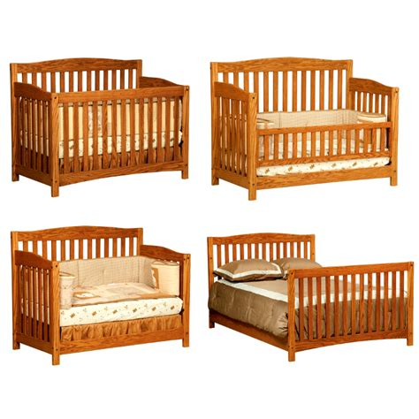 Solid Wood Convertible Cribs Monterey Convertible Baby Crib Made In Usa Solid Wood American Eco Furniture