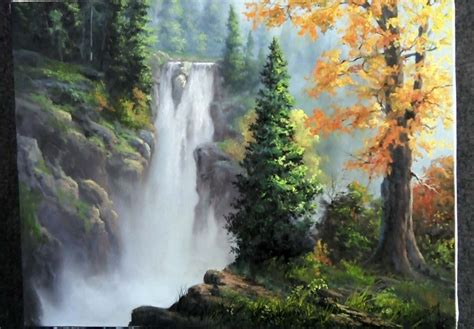 acrylic painting kevin learn how to paint this rushing waterfall this painting