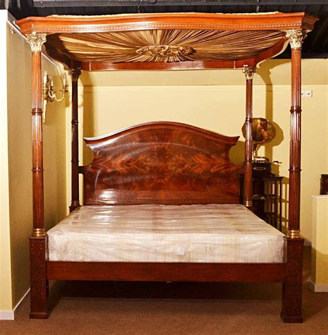 poster beds for sale huge super king mahogany four poster bed for sale at 1stdibs
