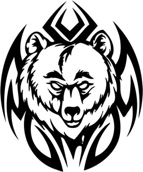 tribal bear head tattoo tribal sticker decals 31 tribal animals decal