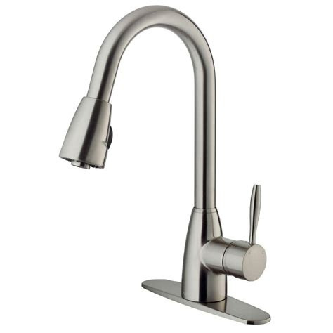 stainless steel faucet kitchen vigo single handle pull out sprayer kitchen faucet with