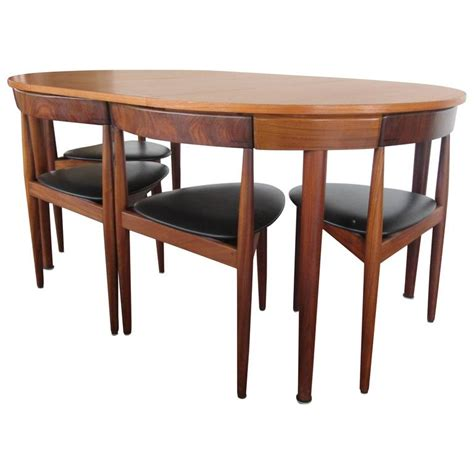 Rosewood Dining Room Set by Rare Hans Olsen Teak Table With Leaf And Six Chairs That