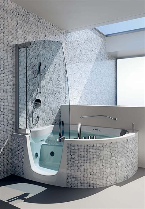 whirlpool bath and shower combo corner whirlpool shower combo by teuco