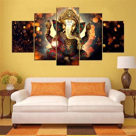 room canvas aliexpress buy wall canvas painting elephant god style pictures for living room 5