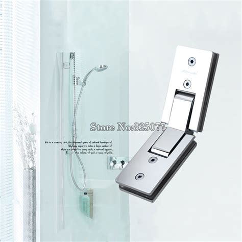 Bathroom Mirror Hinges 1pcs Shower Room Rectangle 135 Degree Mirror Glass Hinge Square Stainless Steel Bathroom Shower