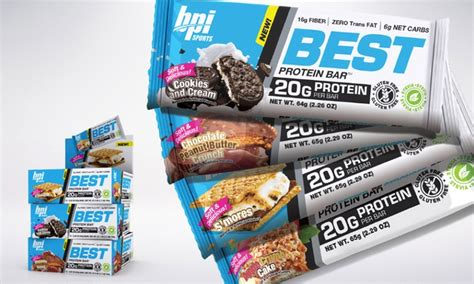 Best Protein Bpi bpi protein bars 12 or 24 ct groupon goods