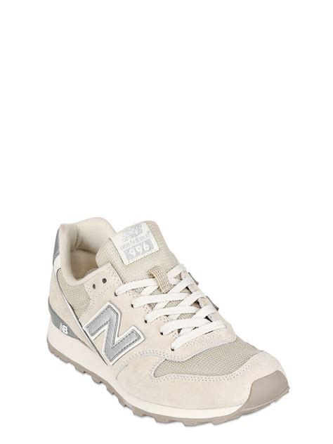 beige sneakers new balance 996 suede mesh sneakers in beige lyst