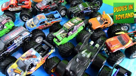grave digger monster truck toys for kids monster trucks toys collection grave digger jam in mud