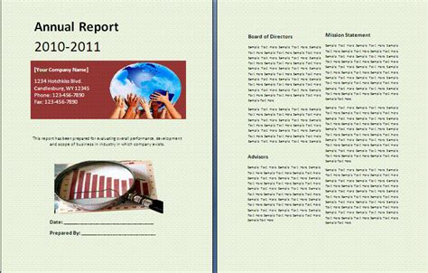 Sle Annual Report Free Reports Annual Business Report Template