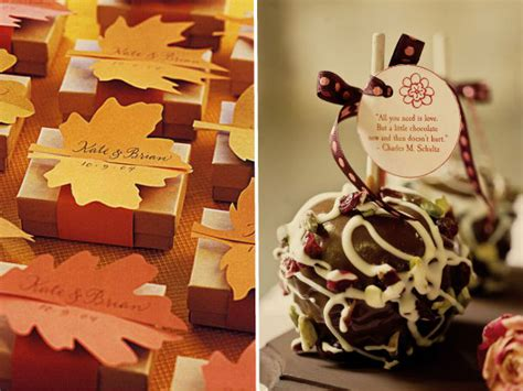 Wedding Favors For Fall by Fall Wedding Detail Ideas 2013 Trends