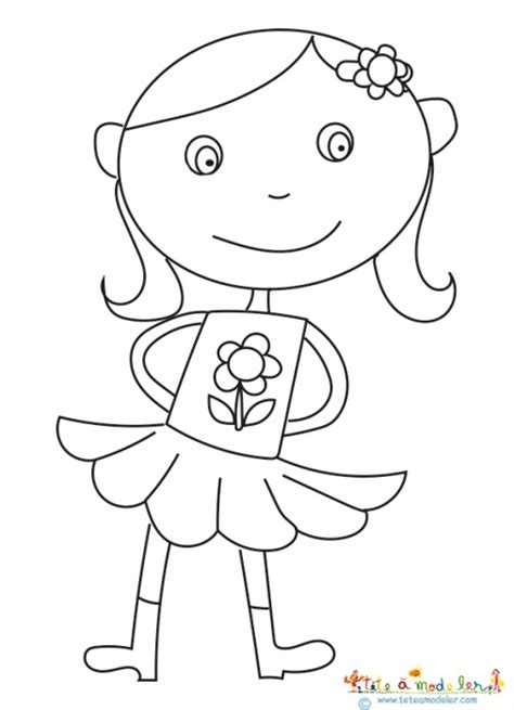 Dessin Fille Avec Couettes by Coloriage Fille Coquine T 234 Te 224 Modeler
