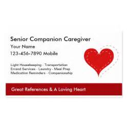 caregiver business cards senior caregiver business cards zazzle