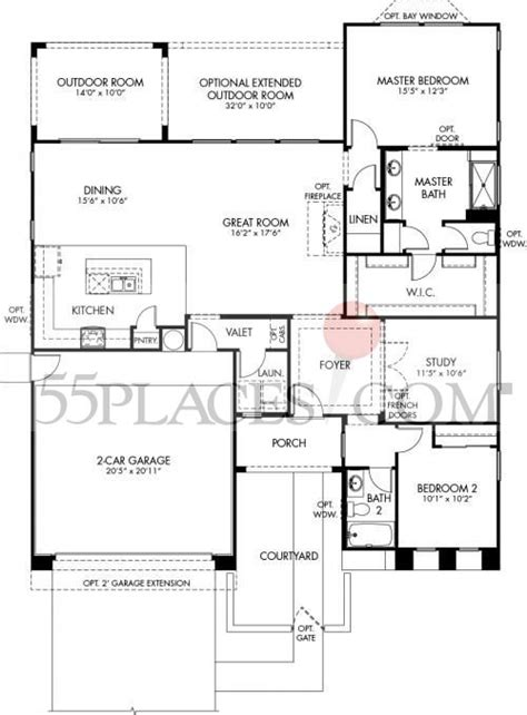 cantamia floor plans sonata floorplan 1629 sq ft cantamia 55places