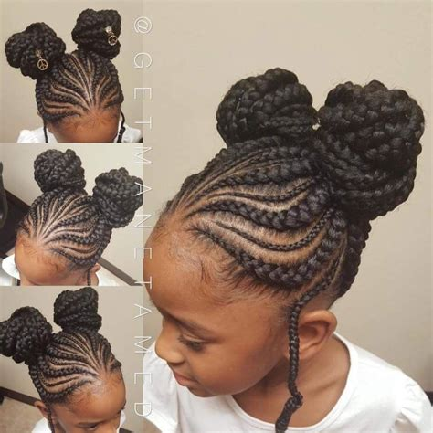 no space cornrows hairstyles double knot buns braided buns kids braids tribal braids