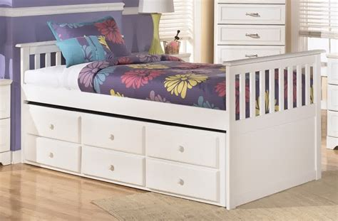 white trundle bed with drawers trundle beds with storage designs homesfeed