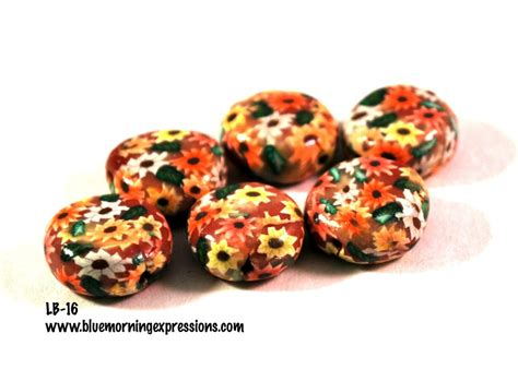 Handmade Polymer Clay Jewelry For Sale - yellow orange white handmade polymer clay