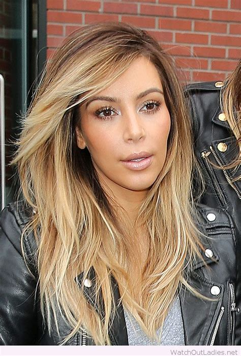 kim kardashian blonde balayage highlights photos balayage kim kardashian