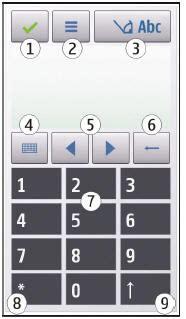 Nokia 5800 Xpressmusic Ввод текста Mobilesmanuals Ru