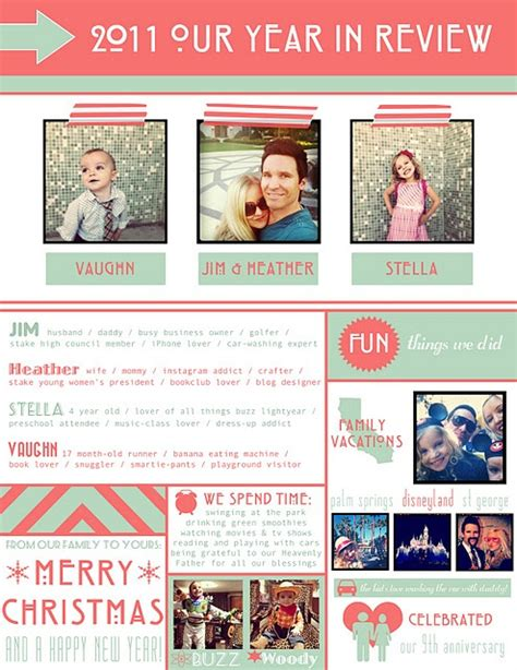 best photos of holiday family newsletter template