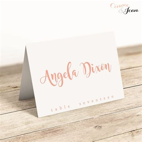 name card template wedding tables the 25 best printable wedding place cards ideas on