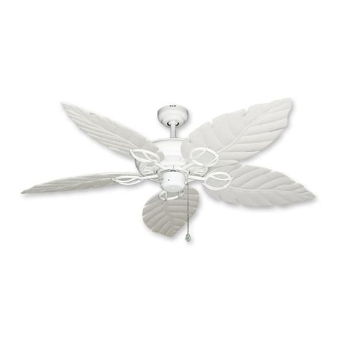 White Leaf Ceiling Fan gulf coast fans ceiling fan in white w