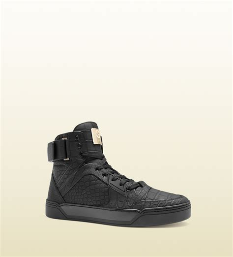 Gucci Limited Edition gucci limited edition crocodile sneakers in black for lyst
