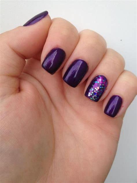 formal nail art ideas  purple