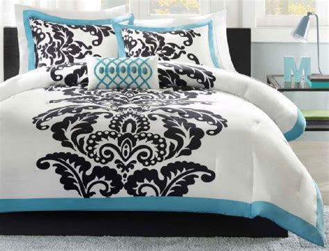 Black Light Comforter by Black White And Blue Bedding