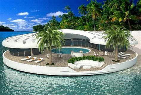 Island Houses by Omes Are Sustainable Floating Island Homes Elite Choice