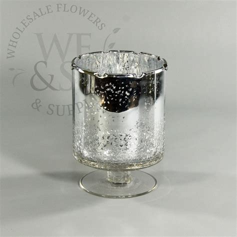 Silver Mercury Glass Vase by Silver Mercury Glass Hurricane Vase Wholesale Flowers