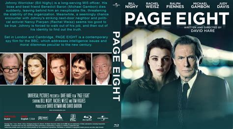 Page Eight 2011 Film Page Eight Movie Blu Ray Custom Covers Page Eight 2011 Custombd Dvd Covers
