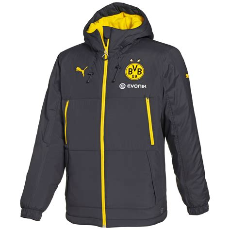 football bench coats puma bvb bench jacket apparel winter jackets football men new ebay