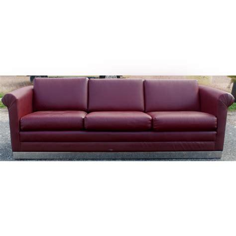 sofa base 88 quot mid century modern three seater sofa chrome base ebay