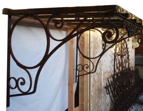wrought iron awning brackets antique iron awning for the home pinterest