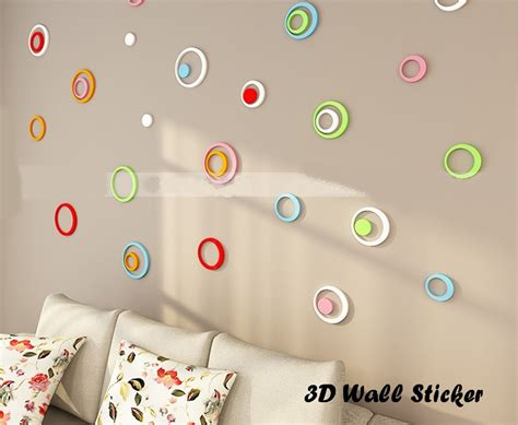 wallpaper sticker dinding 3d 3d wall sticker model bulat hiasan dinding bahan kayu