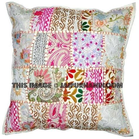bed pillows on sale 20x20 quot x large white gypsy patchwork pillows for bed on sale