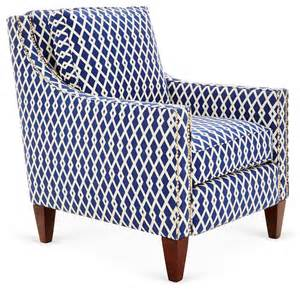 Navy And White Armchair Colleen Club Chair Navy White Contemporary Armchairs And