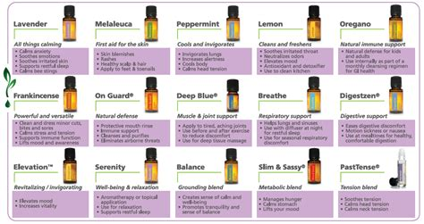 supplement usage guide wall chart 15 essential oils with benefits uses 111