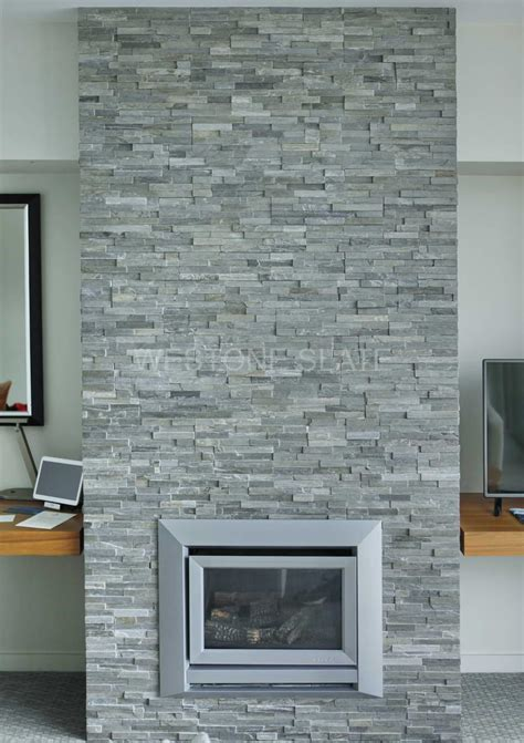 Pillar Decoration Home by Stacked Stone Cladding In London Uk China Slate Stone